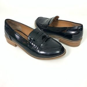 Steve Madden | CYYLO Black Glossy Loafers Sz 9M